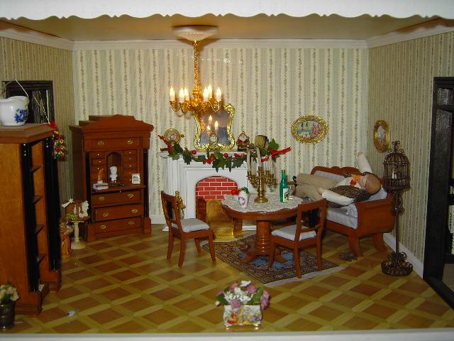 karinkreativ puppenhaus, Wohnzimmer
